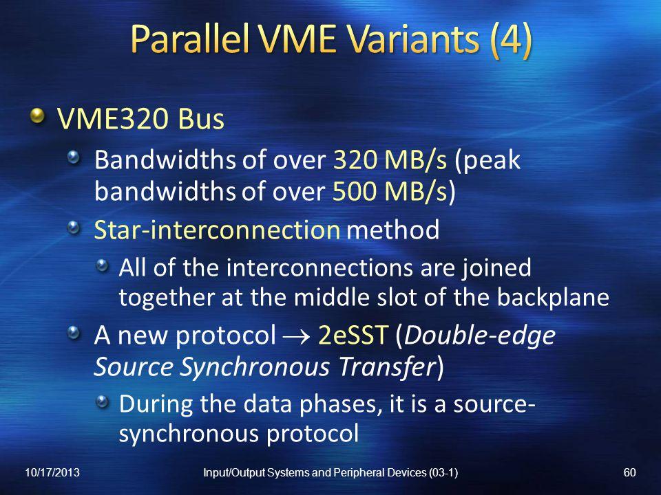 Parallel VME Variants (4)