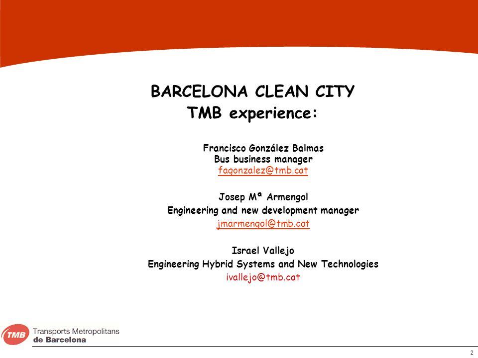 BARCELONA CLEAN CITY TMB experience: Francisco González Balmas