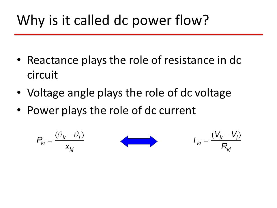 Why is it called dc power flow