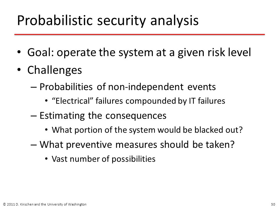 Probabilistic security analysis