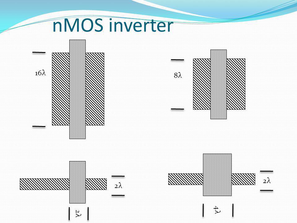 nMOS inverter 16λ 2λ 8λ 4λ 2λ