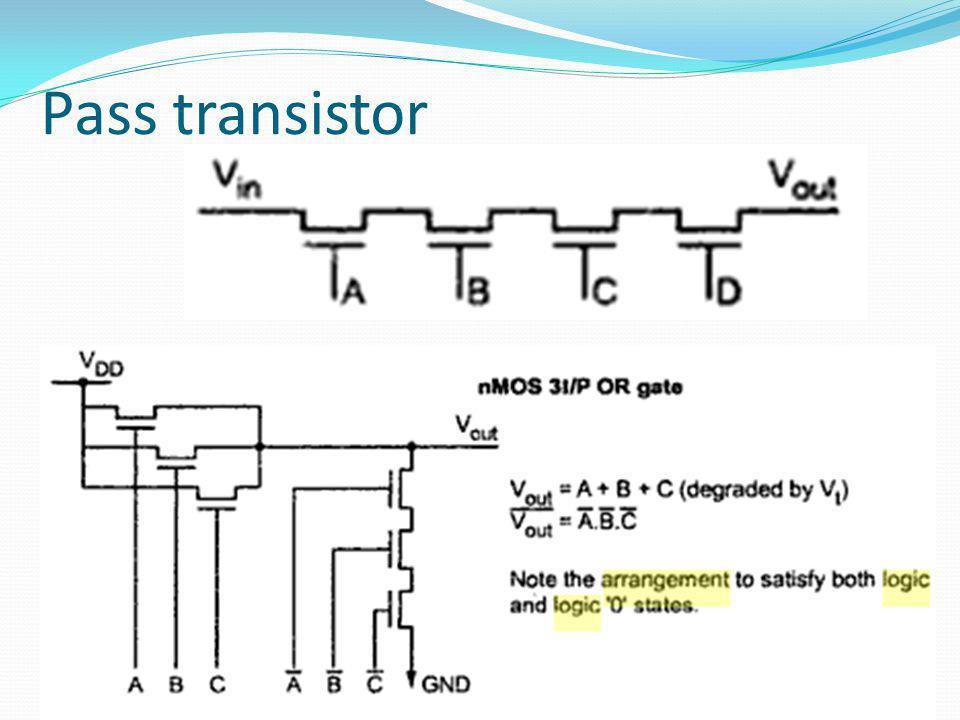 Pass transistor