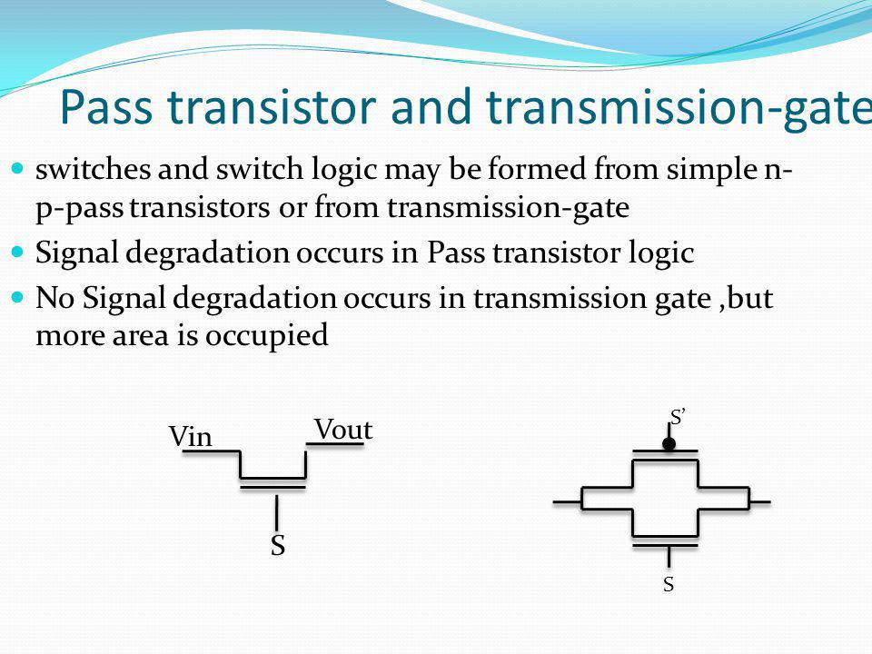 Pass transistor and transmission-gate
