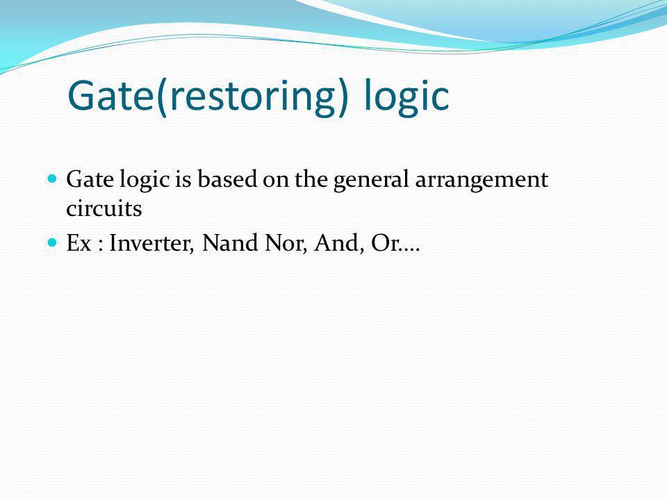 Gate(restoring) logic