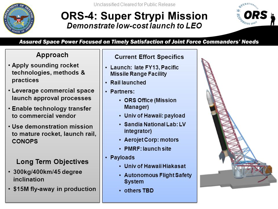 ORS-4: Super Strypi Mission