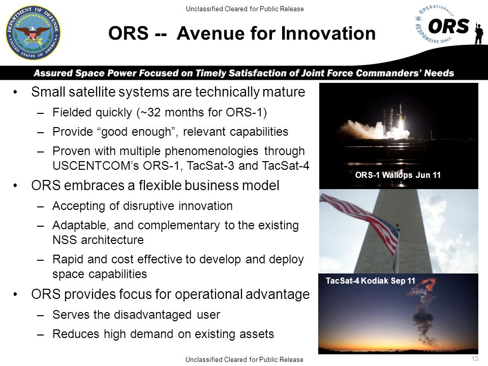 ORS -- Avenue for Innovation