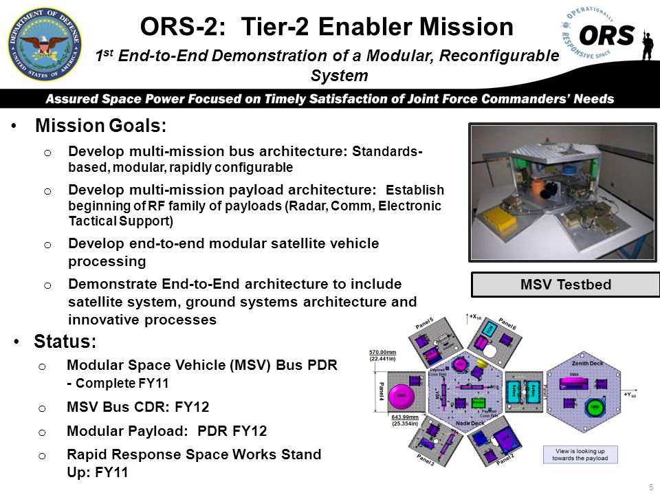 ORS-2: Tier-2 Enabler Mission