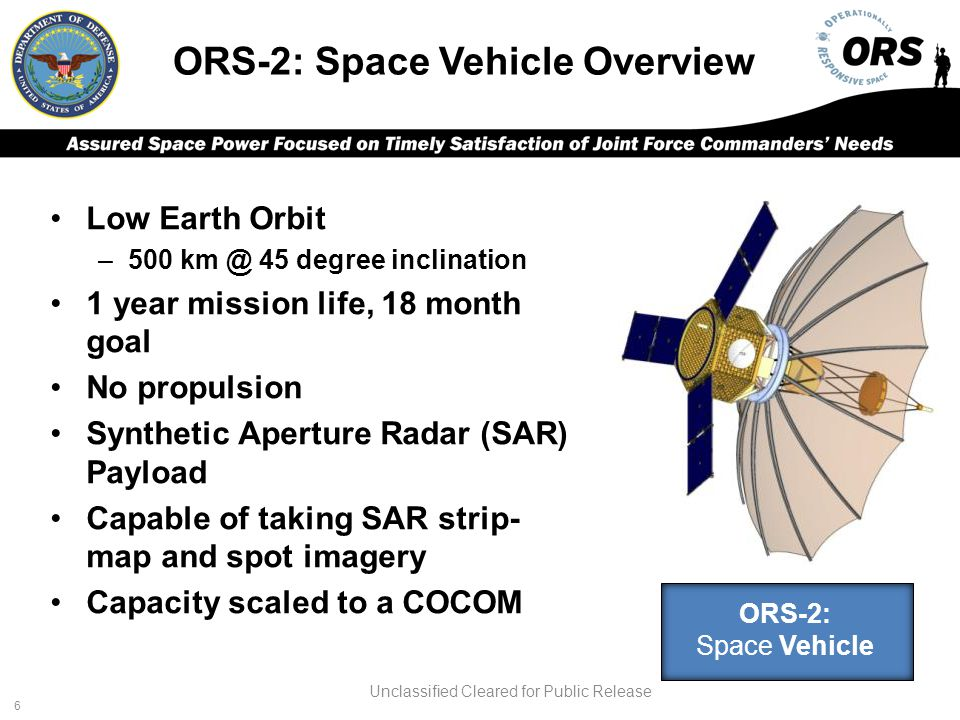 ORS-2: Space Vehicle Overview