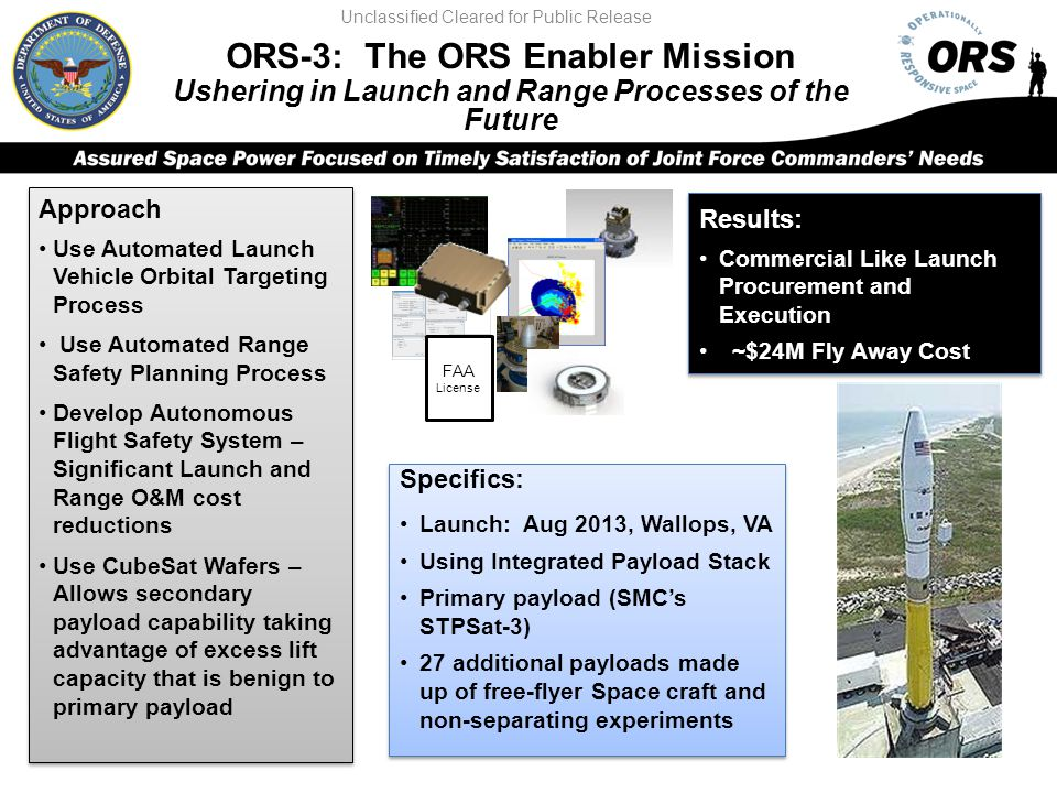 ORS-3: The ORS Enabler Mission
