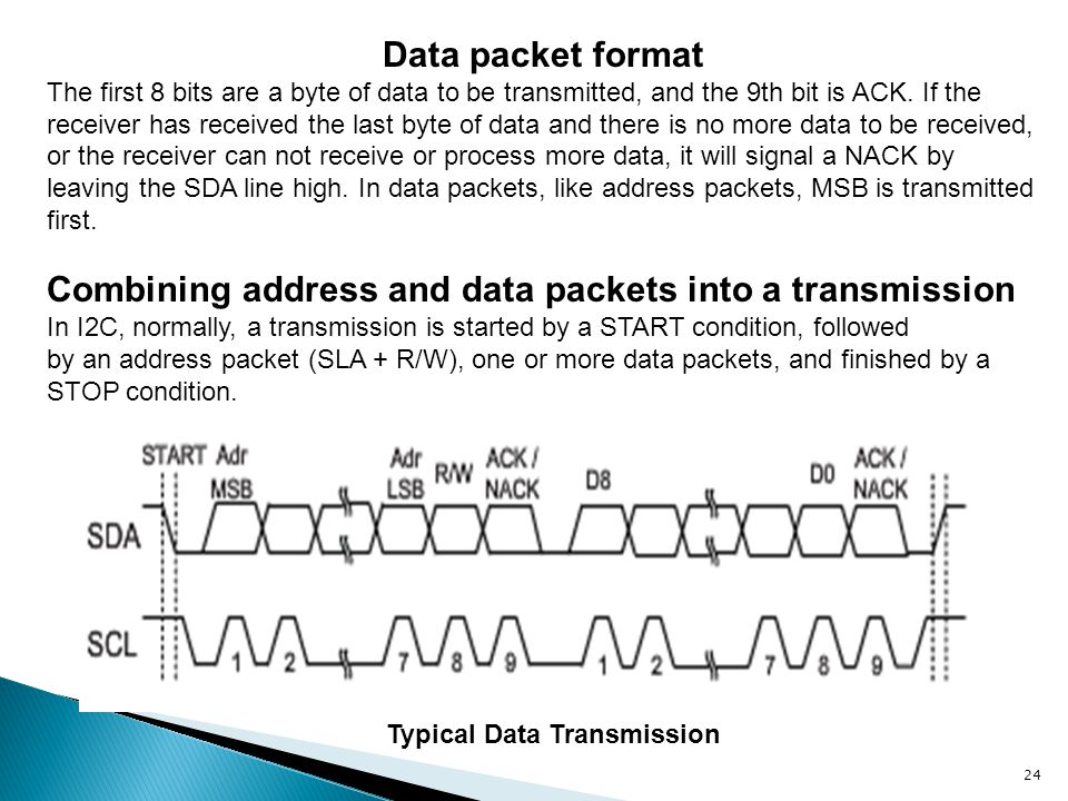Combining address and data packets into a transmission