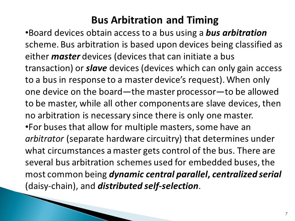 Bus Arbitration and Timing