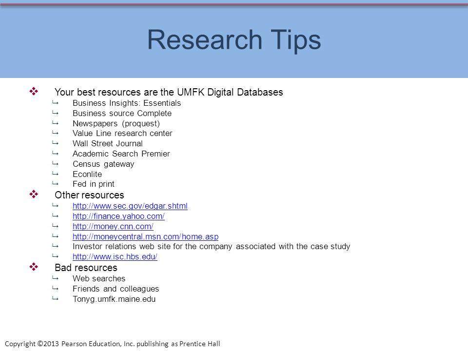 Research Tips Your best resources are the UMFK Digital Databases
