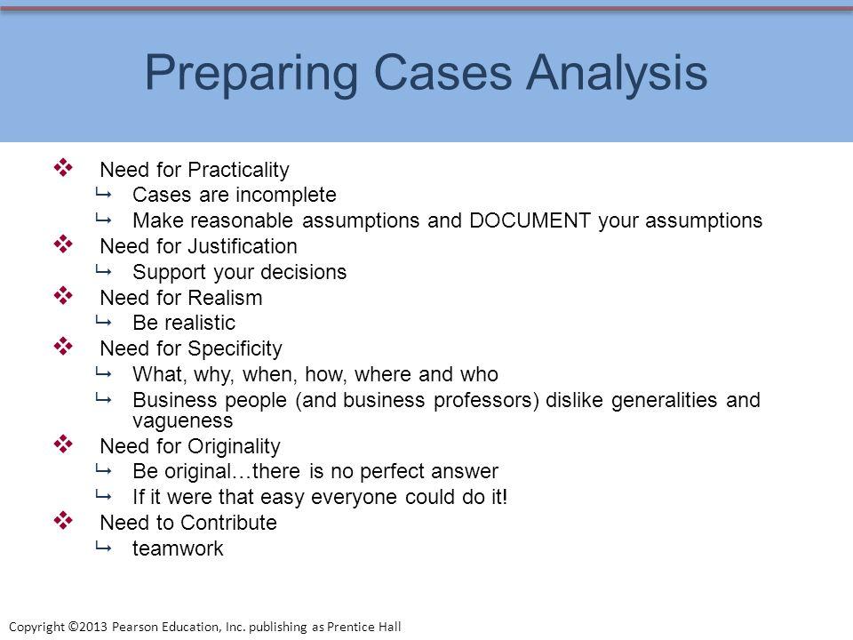 Preparing Cases Analysis