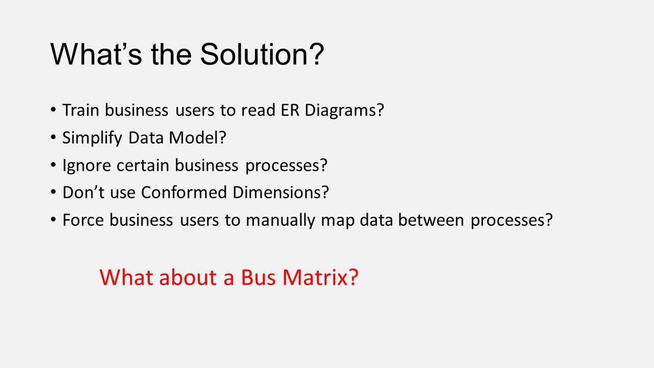 What's the Solution What about a Bus Matrix