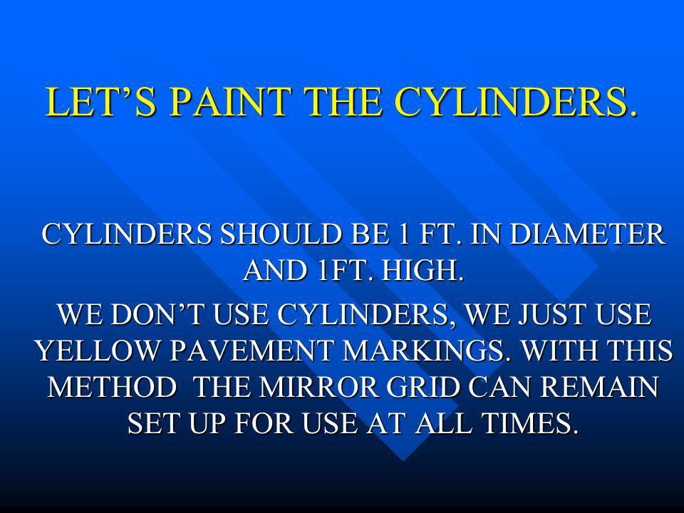LET'S PAINT THE CYLINDERS.