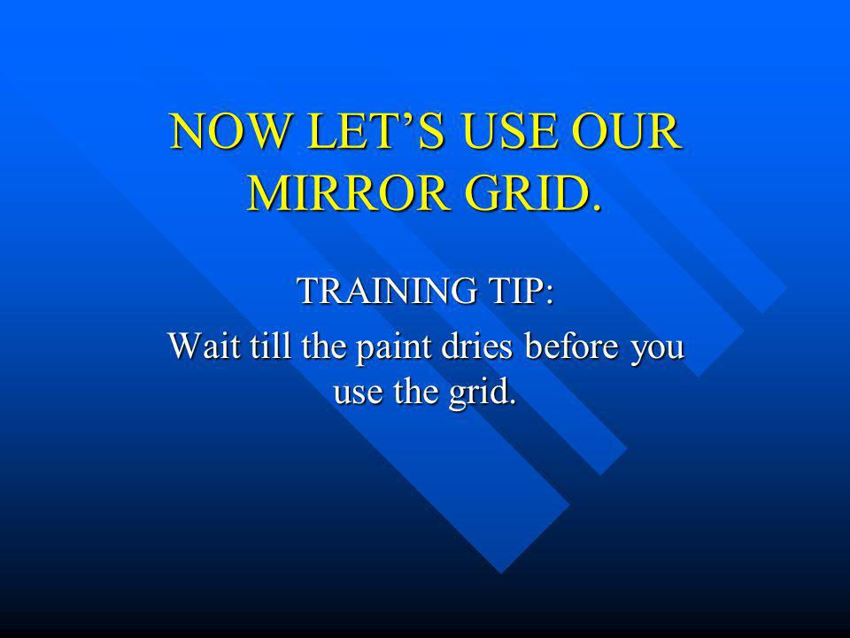 NOW LET'S USE OUR MIRROR GRID.