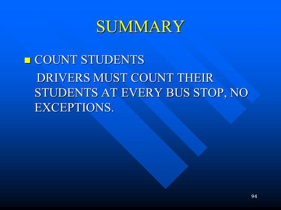 SUMMARY COUNT STUDENTS