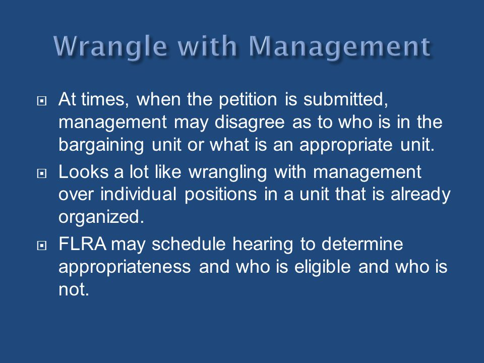 Wrangle with Management