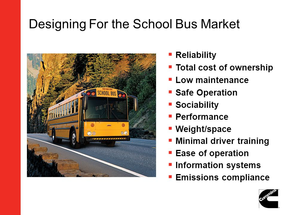 Designing For the School Bus Market
