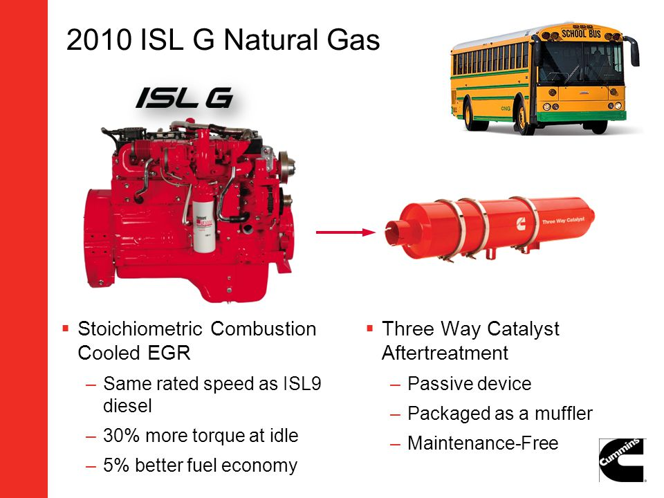 2010 ISL G Natural Gas Stoichiometric Combustion Cooled EGR