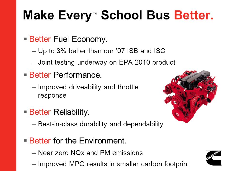 Make Every TM School Bus Better.