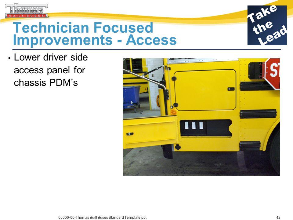Technician Focused Improvements - Access