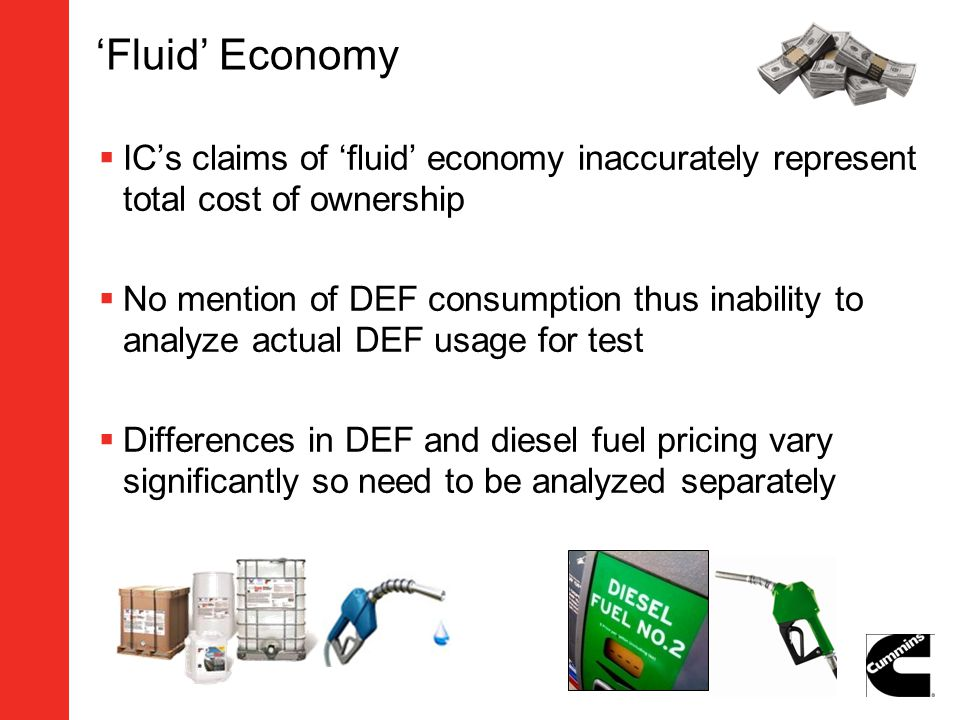 'Fluid' Economy IC's claims of 'fluid' economy inaccurately represent total cost of ownership.