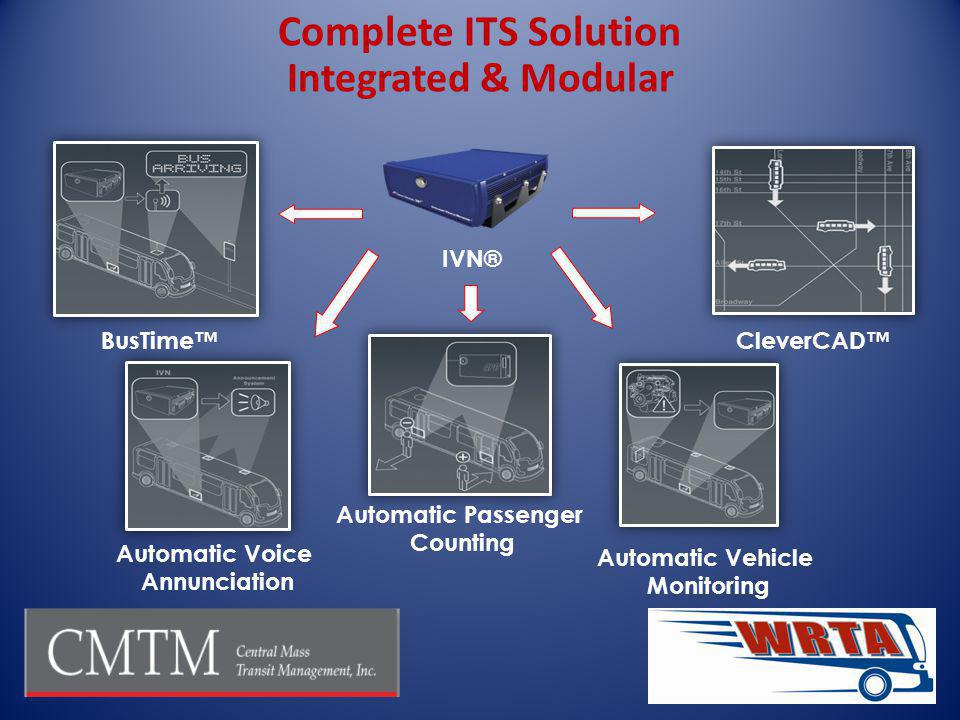 Complete ITS Solution Integrated & Modular IVN® BusTime™ CleverCAD™