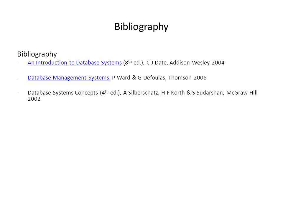 Bibliography Bibliography