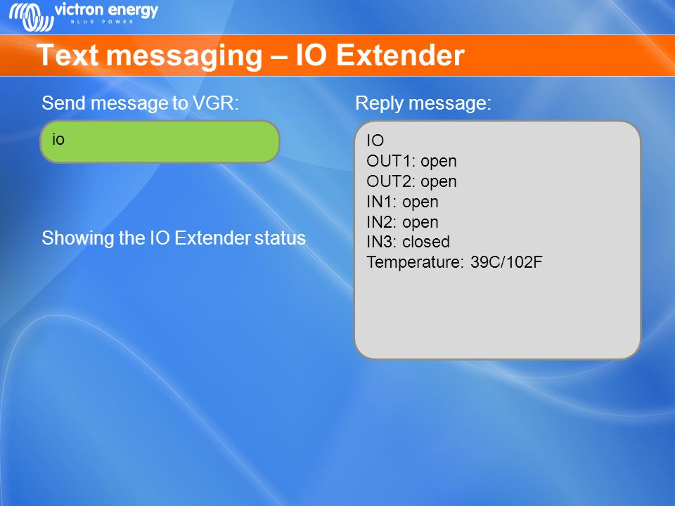 Text messaging – IO Extender