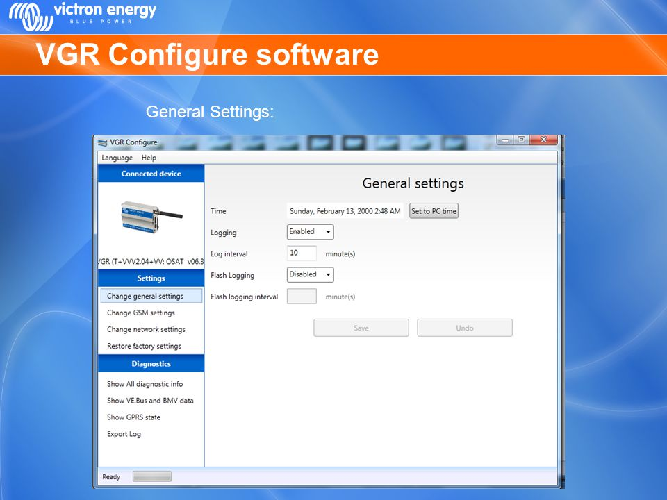 VGR Configure software