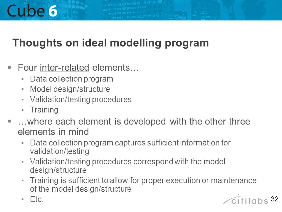 Thoughts on ideal modelling program