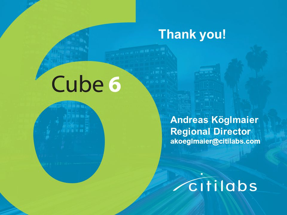 Thank you! Andreas Köglmaier Regional Director