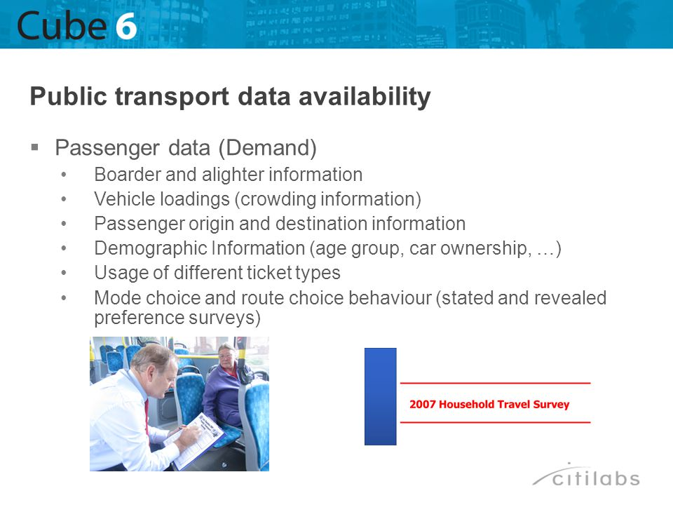 Public transport data availability