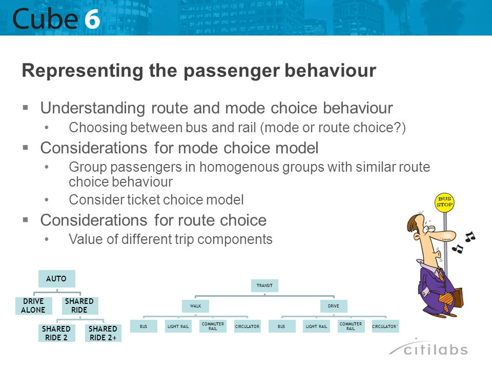 Representing the passenger behaviour