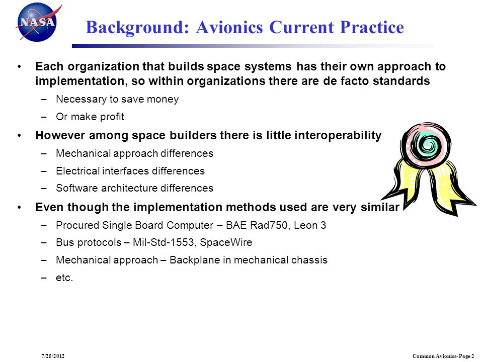Background: Avionics Current Practice