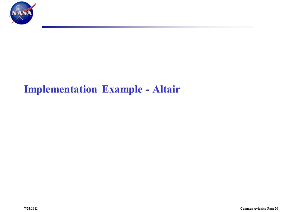 Implementation Example - Altair