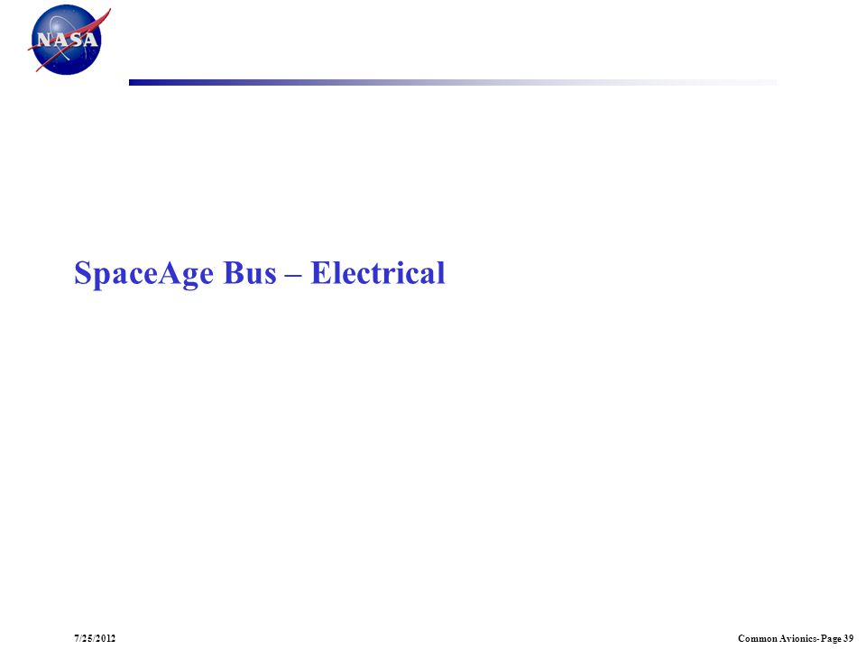 SpaceAge Bus – Electrical