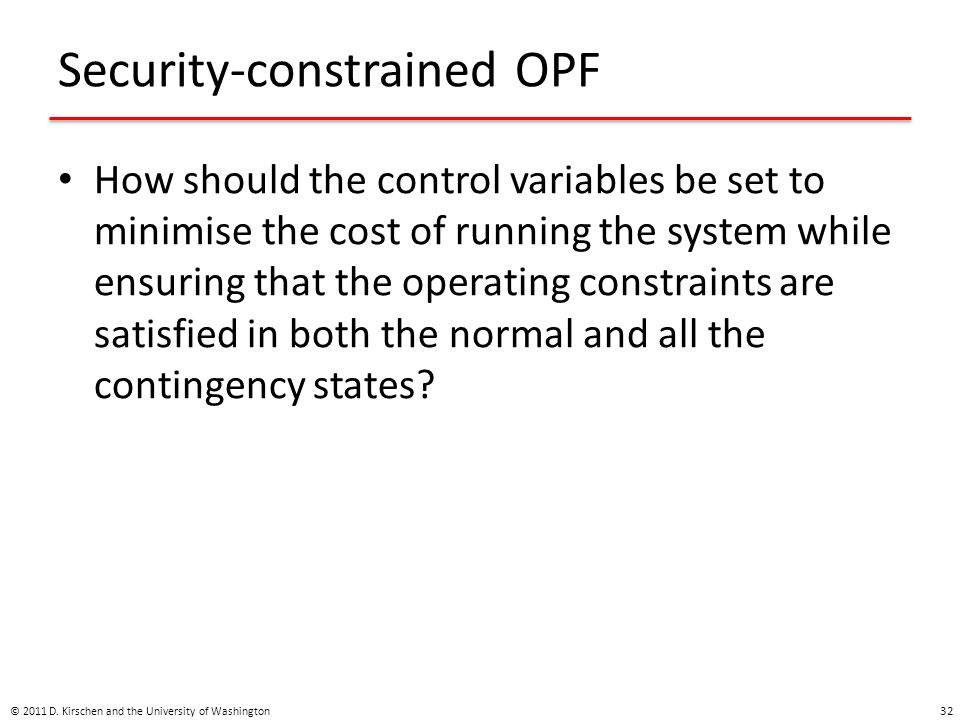 Security-constrained OPF