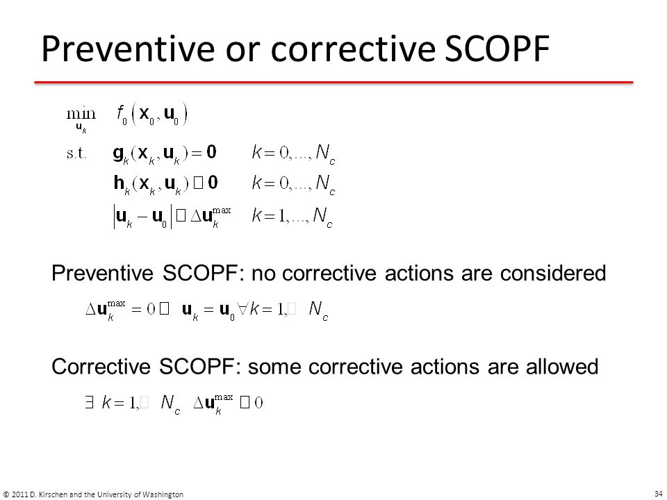 Preventive or corrective SCOPF