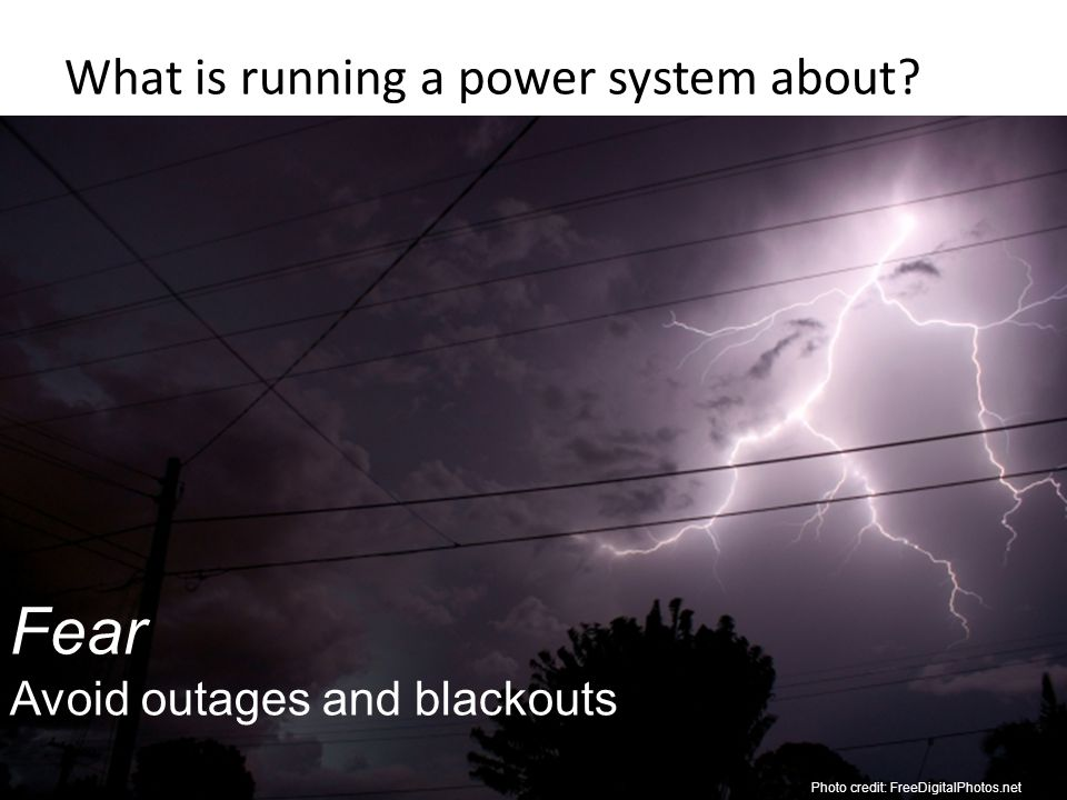 What is running a power system about