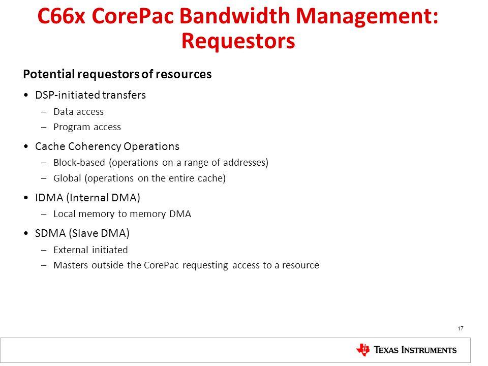C66x CorePac Bandwidth Management: Requestors