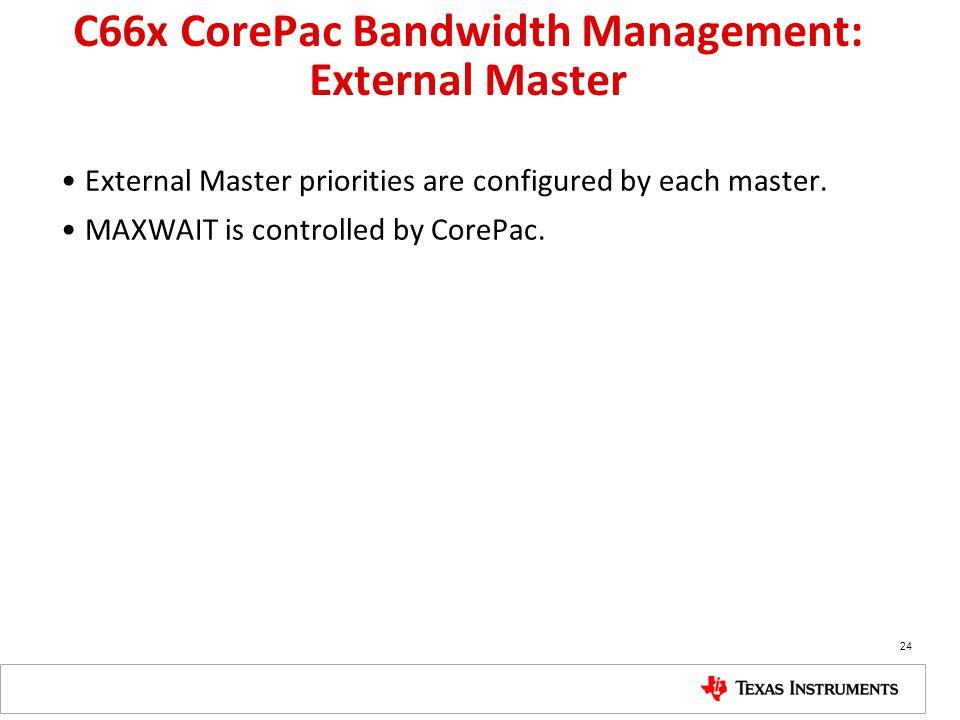 C66x CorePac Bandwidth Management: External Master