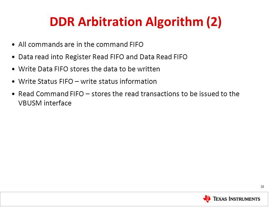 DDR Arbitration Algorithm (2)