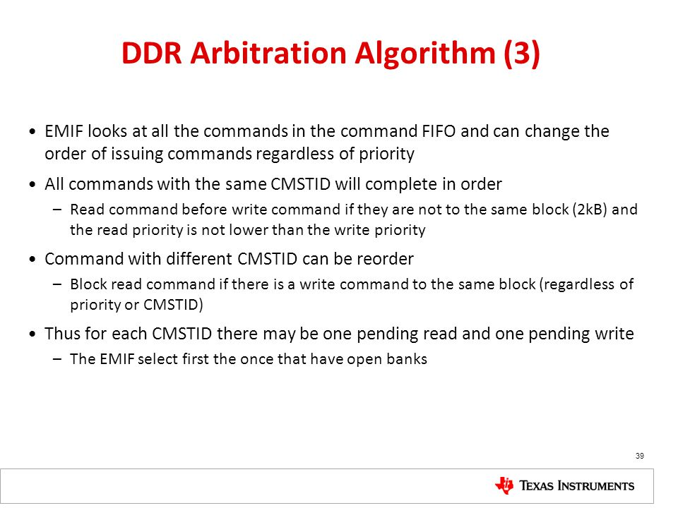 DDR Arbitration Algorithm (3)