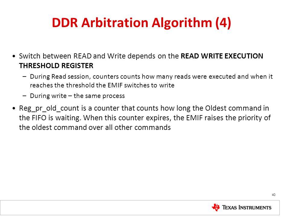 DDR Arbitration Algorithm (4)