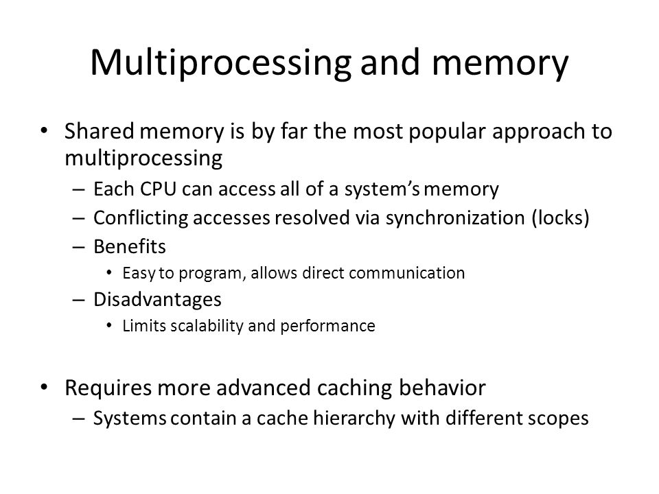 Multiprocessing and memory