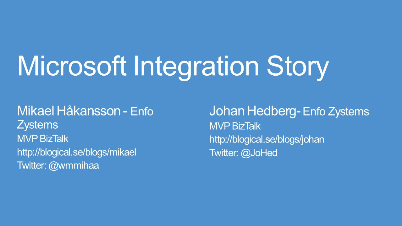Microsoft Integration Story
