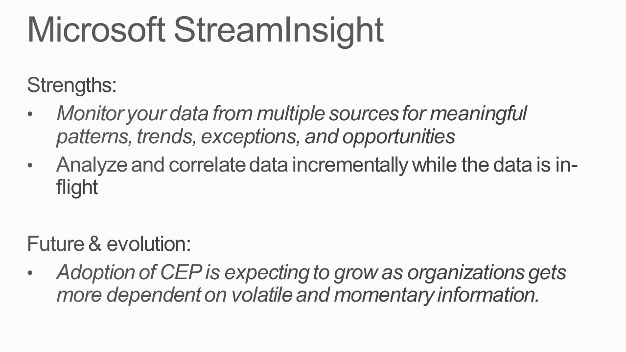 Microsoft StreamInsight