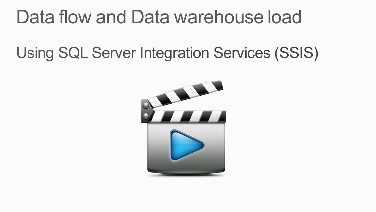 Data flow and Data warehouse load